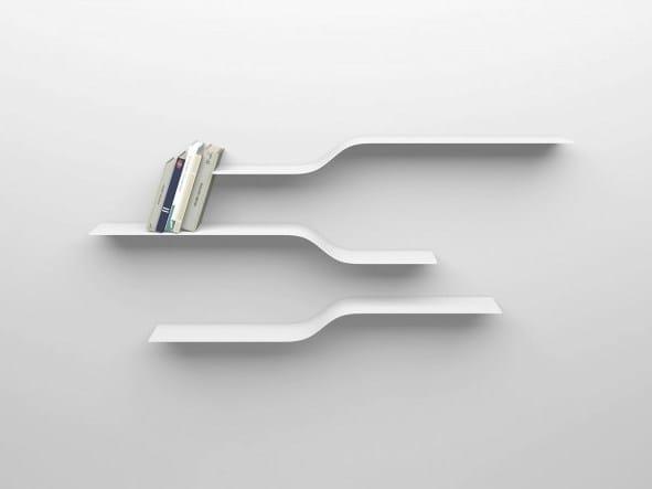 Powder coated aluminium wall shelf SET 11 by VIDAME CREATION