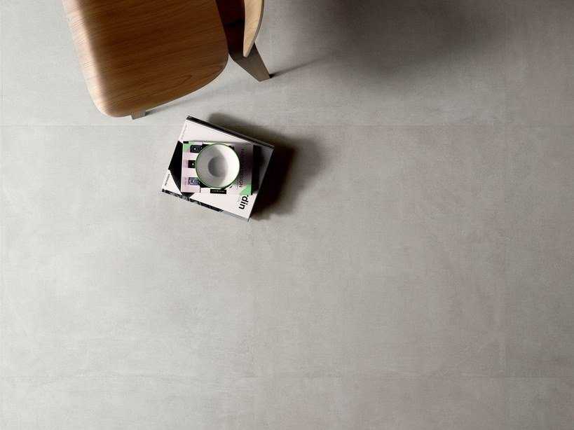Porcelain stoneware wall/floor tiles with concrete effect SET CONCRETE PEARL by CERAMICA SANT'AGOSTINO