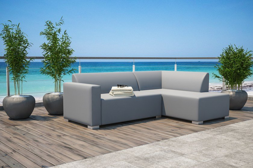 5 seater sectional fabric sofa with fire retardant padding Set Jesi by Mediterraneo by GPB