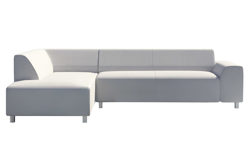 6 seater sectional fabric sofa with chaise longue Set Riccione by Mediterraneo by GPB