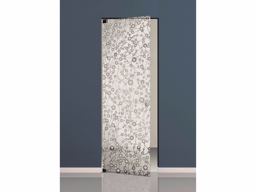 Hinged sandblasted glass door SETT'ANTA | Hinged door by Casali
