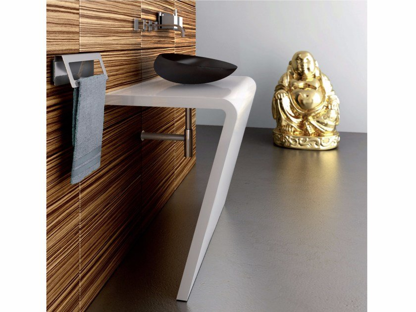 Single stainless steel console sink SETTANTACINQUE | Console sink by Componendo