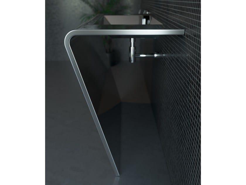 Rectangular stainless steel washbasin SETTANTADUE by Componendo