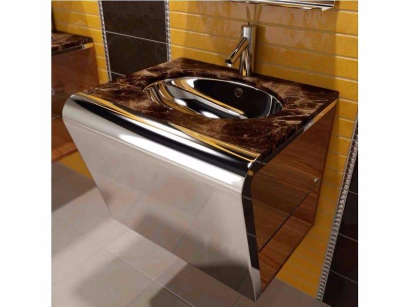 Single wall-mounted marble vanity unit SETTEMENO | Vanity unit by Componendo