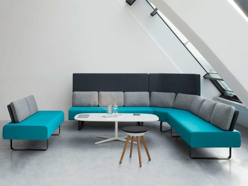 Corner modular fabric sofa SETTLE by BENE