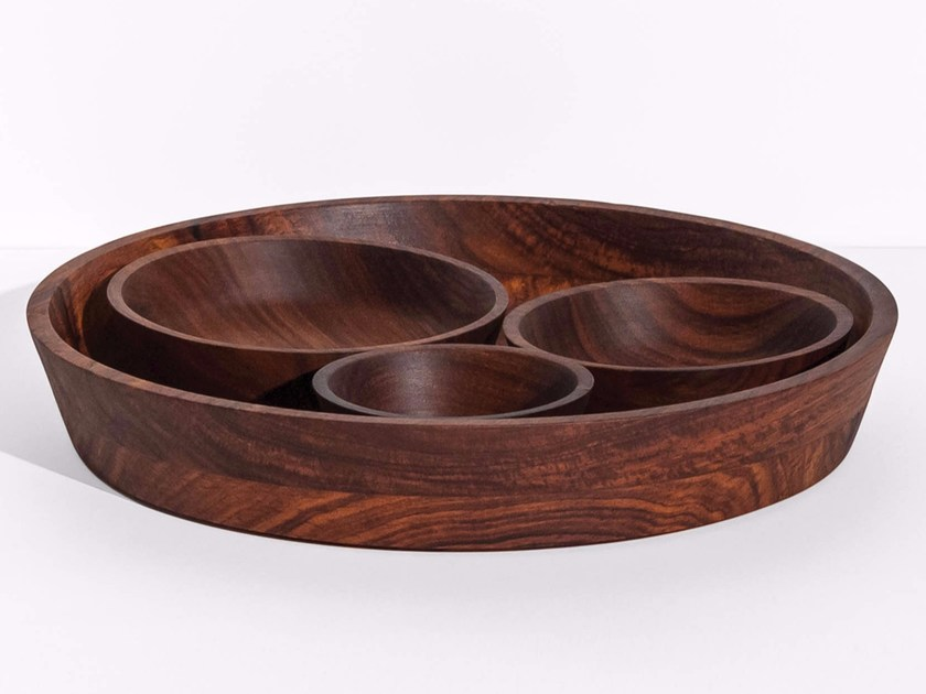 Set of bowls in wood SEVA by Tiipoi