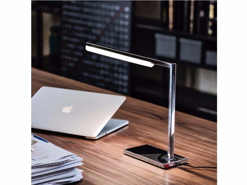 LED chrome plated steel table lamp SEVEN by Cattelan Italia