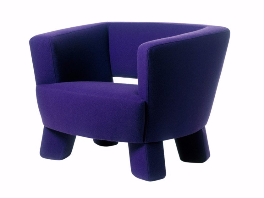 Fabric armchair with armrests SEVEN by Palau