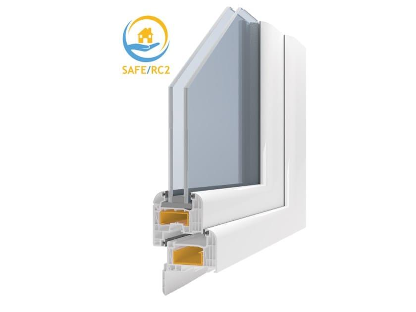 PVC thermal break window SEVEN SAFE/RC2 by Ital-Plastick