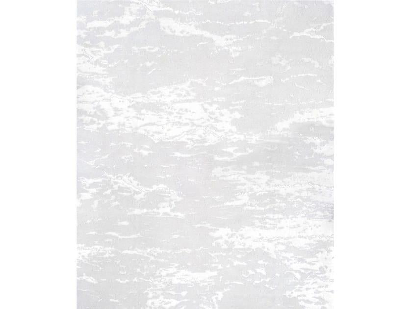 Handmade rectangular rug SEVEN WHITE by Tapis Rouge