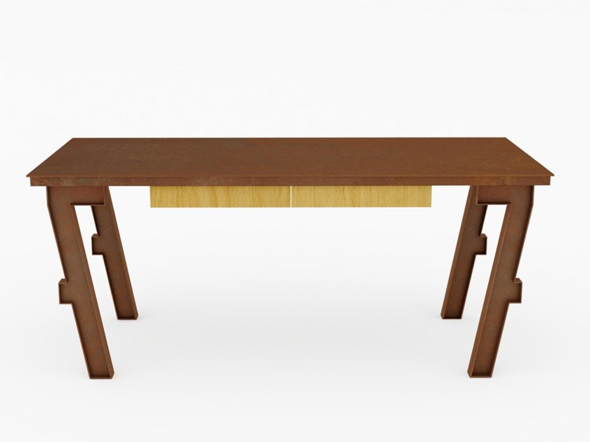 Rectangular writing desk with drawers SEVEN | Writing desk by TrackDesign