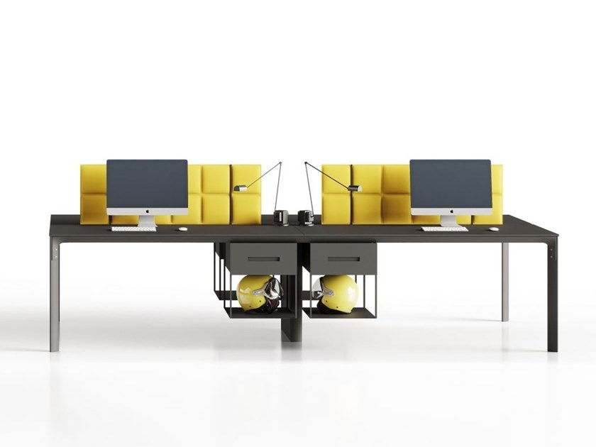 Multiple office workstation SEVENTY SEVEN | Office workstation with sound absorbing screens by CUF Milano