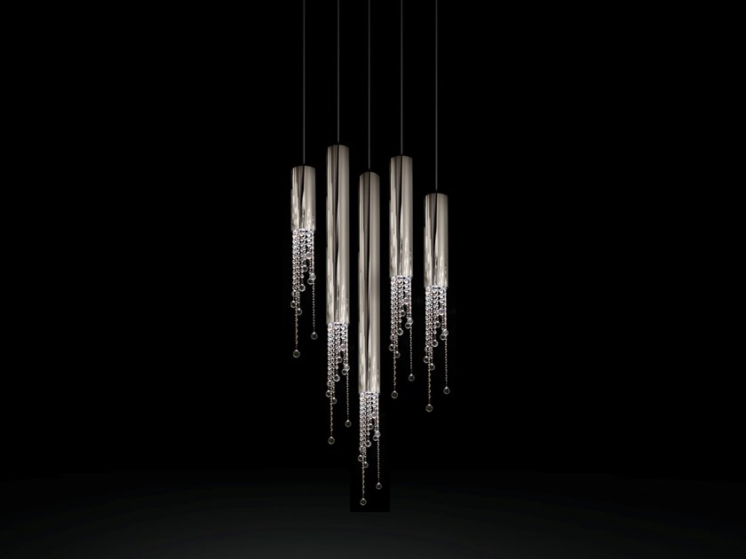 Metal pendant lamp with crystals SEXY CRYSTALS H5 by ILFARI