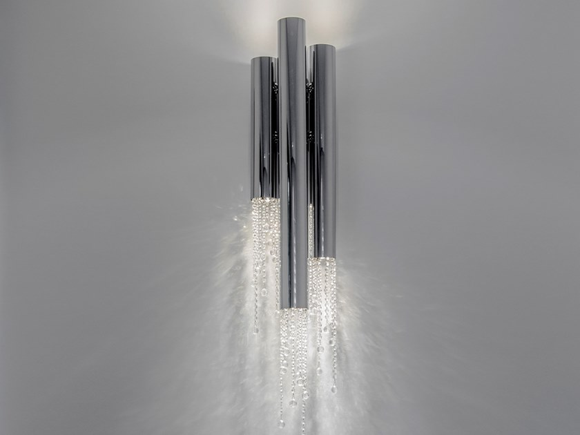Metal wall lamp with crystals SEXY CRYSTALS W3+3 by ILFARI
