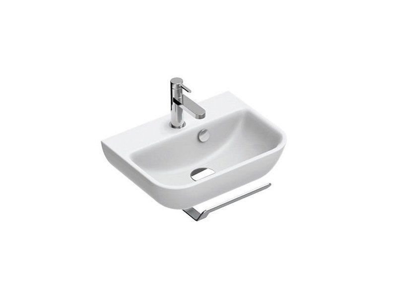 Ceramic handrinse basin with towel rail SFERA   Handrinse basin by CERAMICA CATALANO