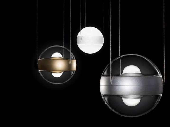 Direct-indirect light pendant lamp SFERICO SOSPESO by Cini&Nils