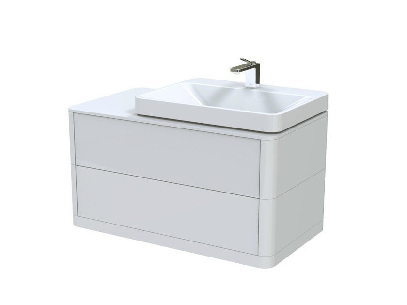 Single wall-mounted vanity unit with drawers SG | Wall-mounted vanity unit by TOTO