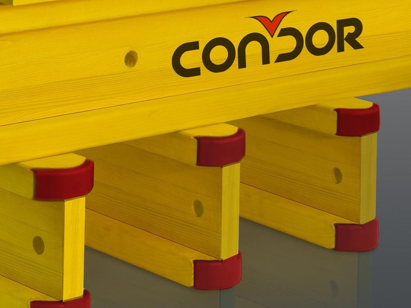 In situ concrete loadbearing masonry system SH20 Wooden beams by Condor