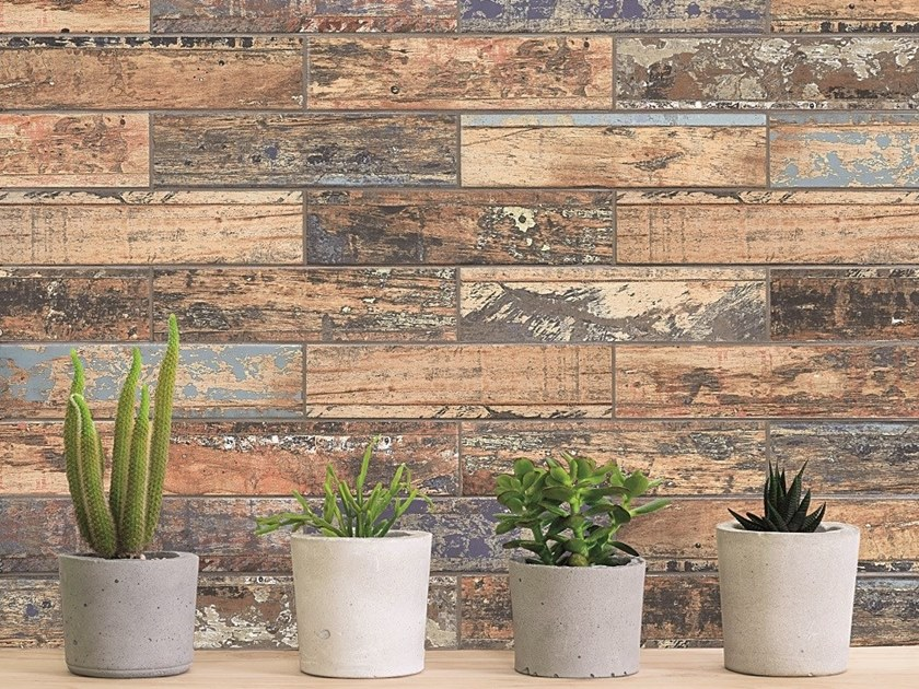 Wall/floor tiles with wood effect SHABBY by AREZIA
