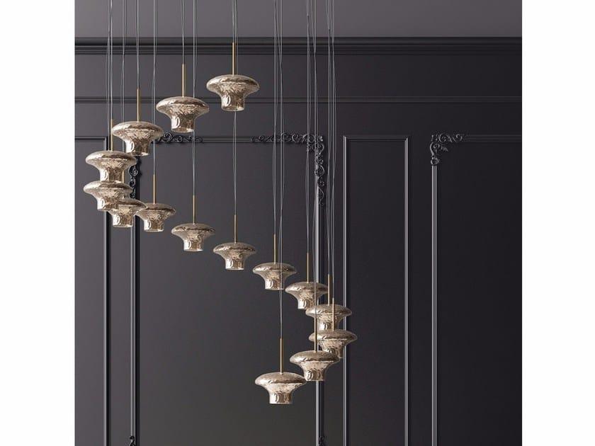 Murano glass pendant lamp SHABBY by Adriani e Rossi edizioni