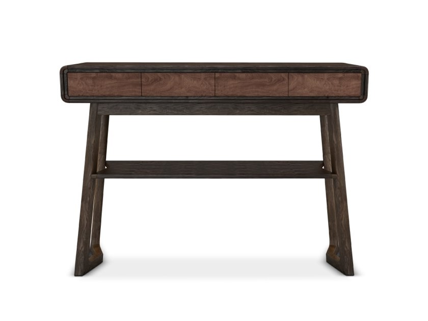 Rectangular walnut console table with drawers SHACKLETON by Wood Tailors Club