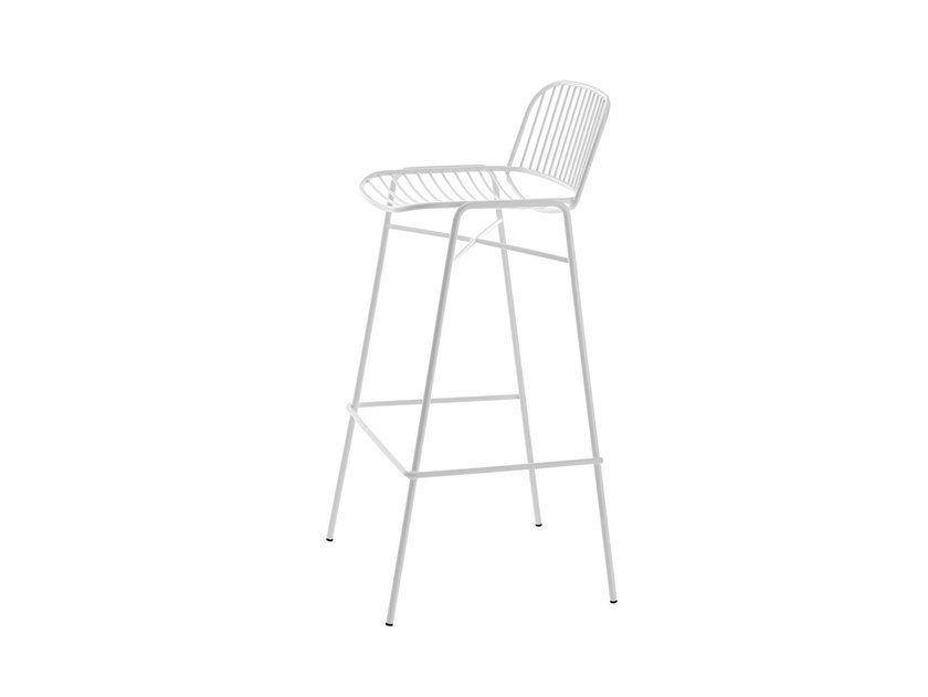 High stool with footrest SHADE 624 by Metalmobil