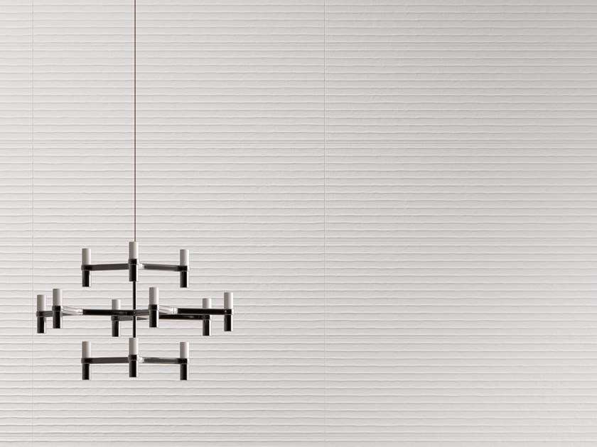 White-paste 3D Wall Cladding FORME BIANCHE SHADE by Impronta Ceramiche