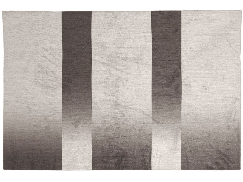 Rectangular striped silk rug SHADES by GIORGETTI