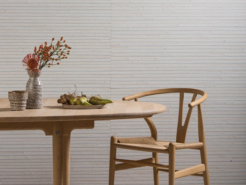 Nonwoven wallpaper SHADES OF PALE - JUTE WEAVE by Omexco