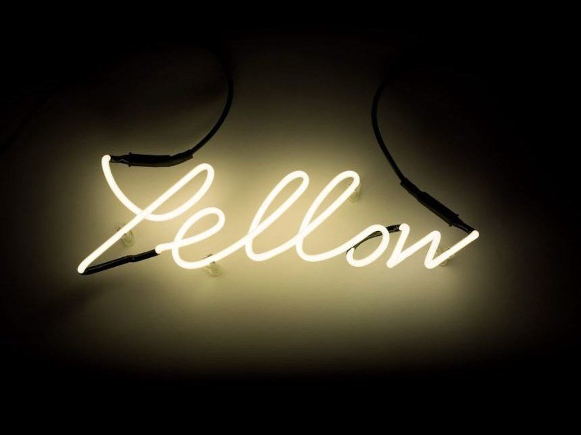 Wall mounted Light letter SHADES YELLOW by Seletti