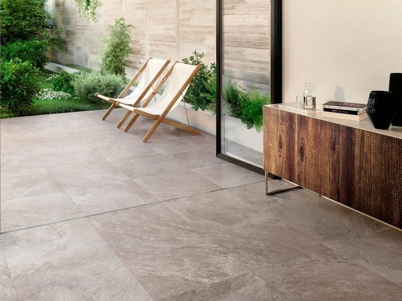 Porcelain stoneware wall/floor tiles with stone effect SHADESTONE GREY by CERAMICA SANT'AGOSTINO