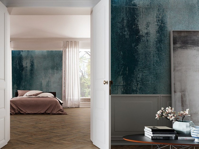 Wall effect vinyl wallpaper SHADEY Materials Collection By Adriani e ...