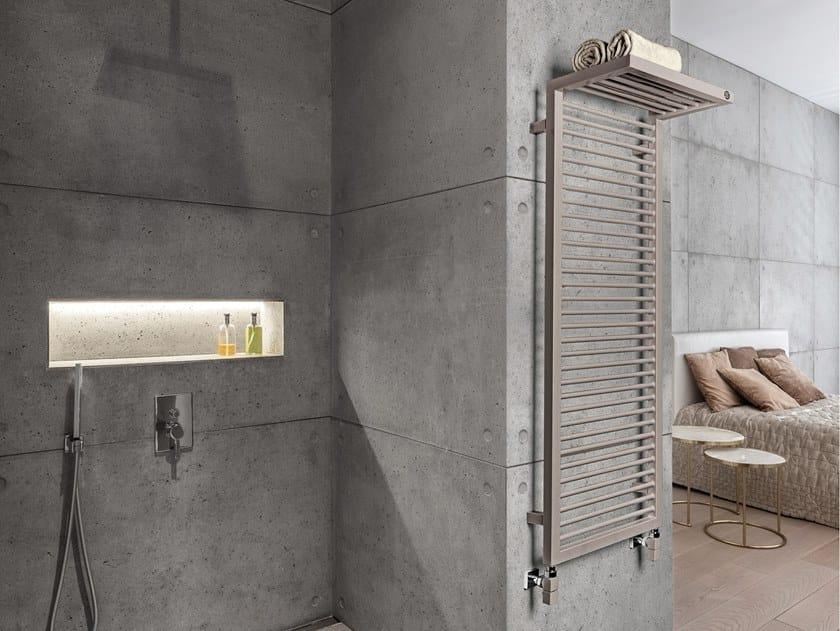 Scaldasalviette ad acqua calda in acciaio a parete SHADOW RACK by SCIROCCO H