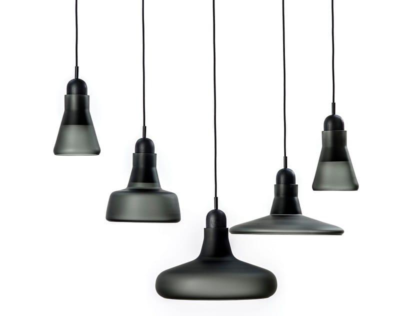 Direct light blown glass pendant lamp SHADOWS XL | Glass pendant lamp by BROKIS