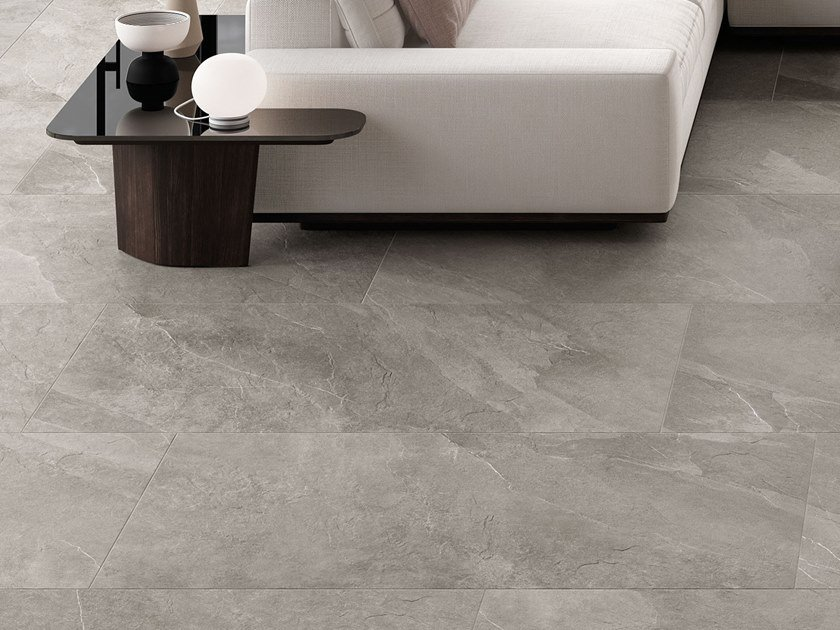 Porcelain stoneware wall/floor tiles with stone effect SHALE Greige by Italgraniti