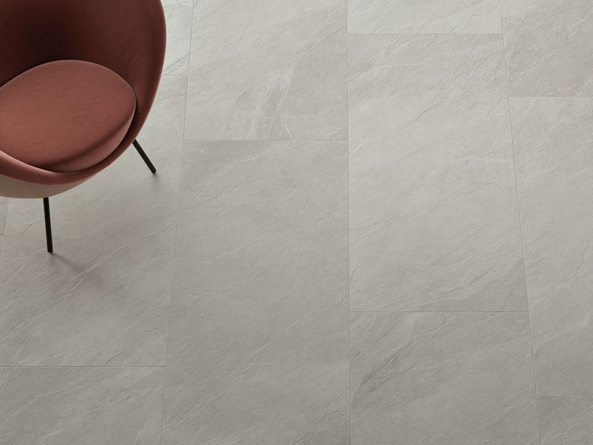 Porcelain stoneware wall/floor tiles with stone effect SHALE Moon by Italgraniti