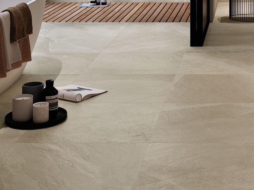 Porcelain stoneware wall/floor tiles with stone effect SHALE Sand by Italgraniti