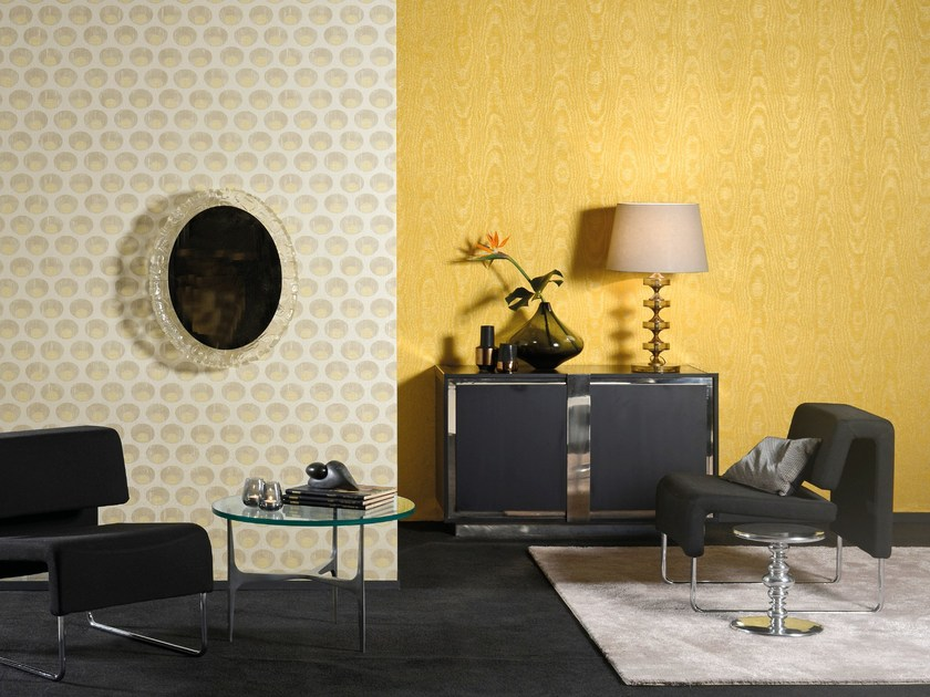 Fabric wallpaper SHALIMAR PEARL by Omexco