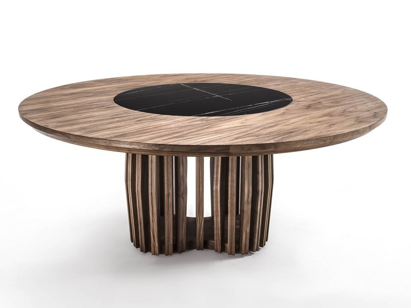 Round solid wood table SHANG by Riva 1920