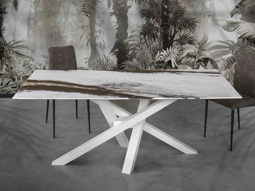 Rectangular resin living room table SHANGAI ART by RIFLESSI
