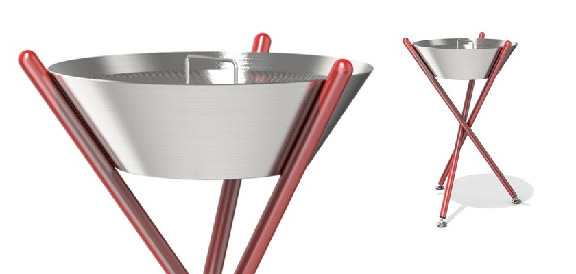 Steel ashtray SHANGAI   Ashtray by Metalco