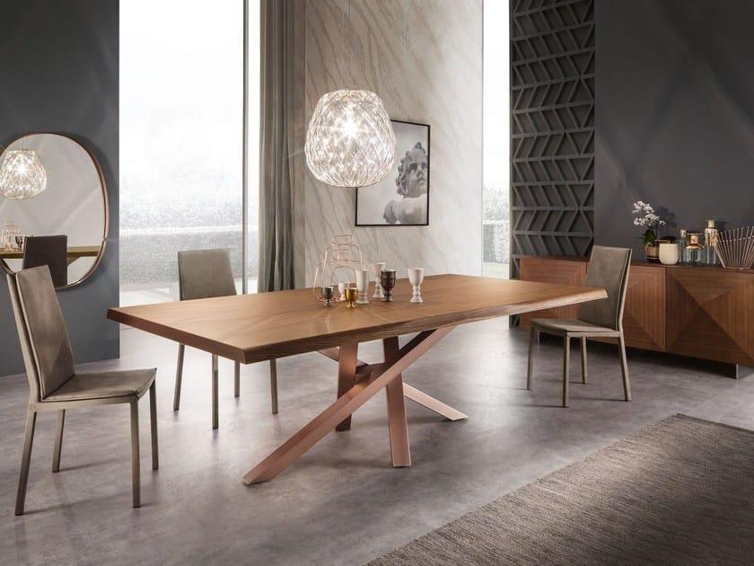 Rectangular walnut table SHANGAI | Walnut table by RIFLESSI