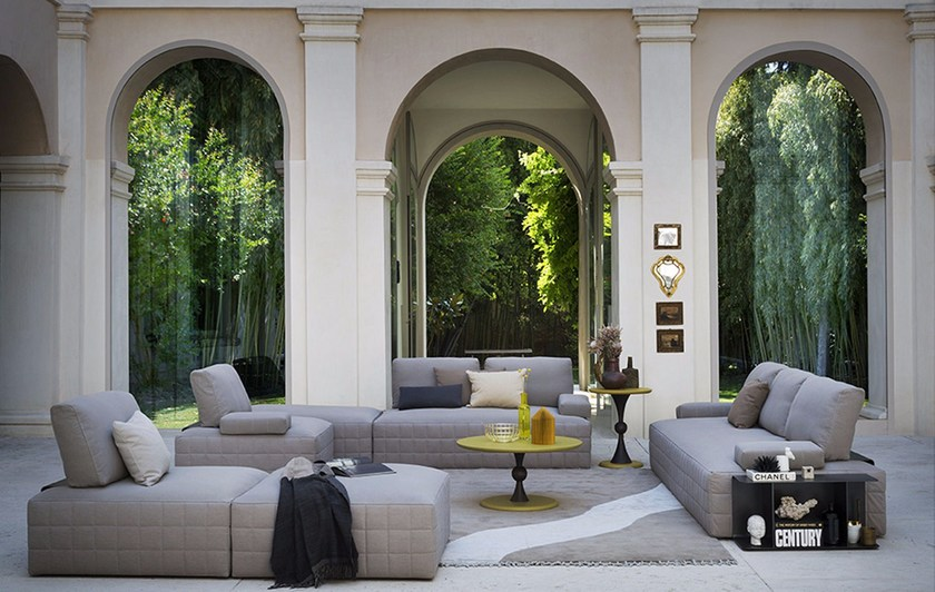 Sectional sofa with removable cover SHANGHAI by Bodema