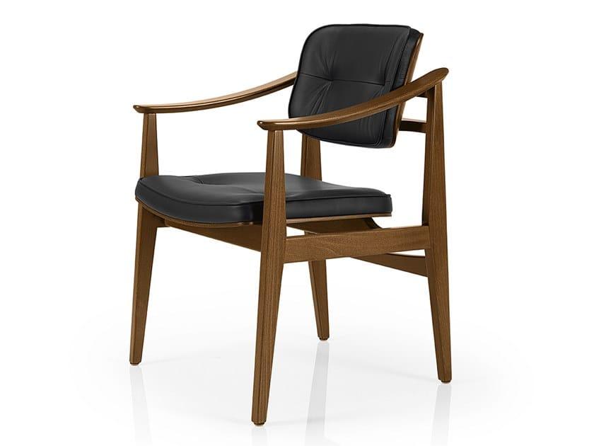 Cadeira de pele com braços SHANNA M1056CWUUCR by JMS