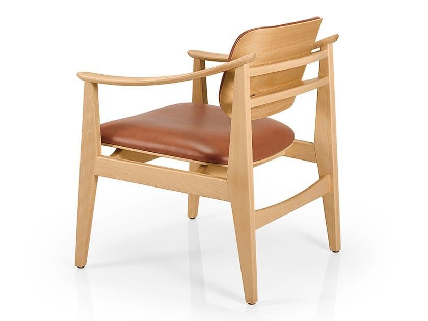 Cadeira lounge de pele com braços SHANNA M1058WUUST by JMS