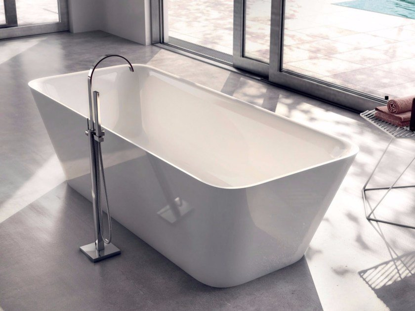 Freestanding rectangular bathtub SHAPE 01 by LASA IDEA