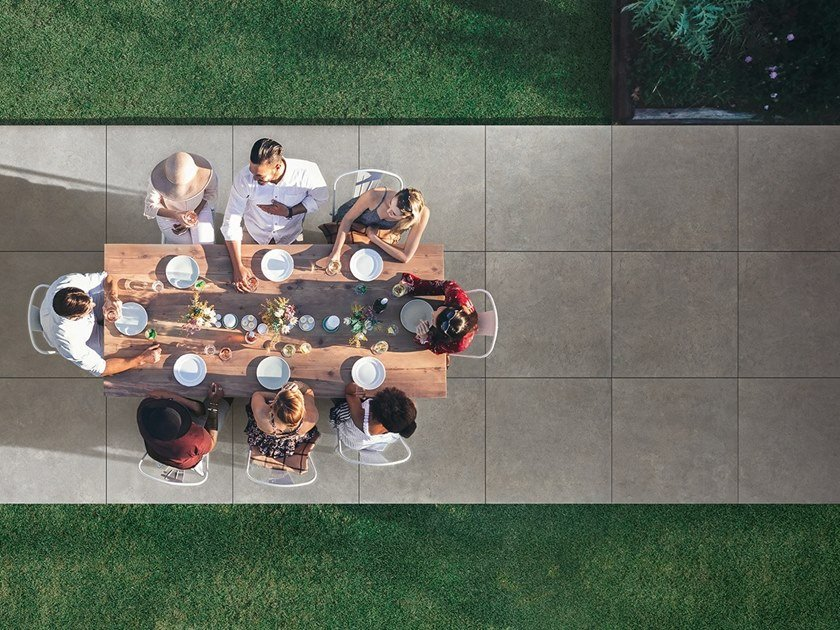 Porcelain stoneware outdoor floor tiles with stone effect SHAPES OF ITALY AEXTRA 20 by Ceramiche Caesar