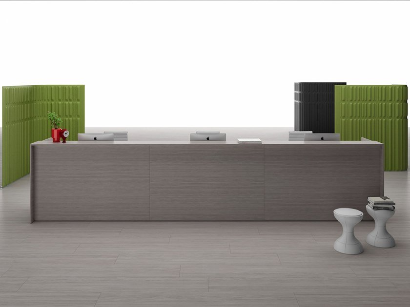 Modular Office reception desk SHARD | Office reception desk by Citterio