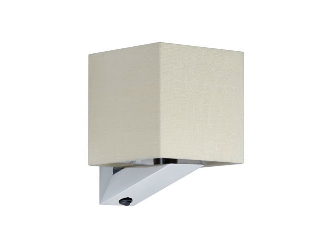 Canvas wall light with fixed arm SHARON10 by Quicklighting
