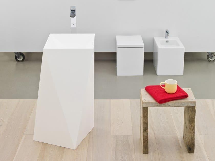 Freestanding Icetek light washbasin SHARP by Artceram